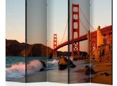 Paraván - Golden Gate Bridge - sunset, San Francisco II [Room Dividers]